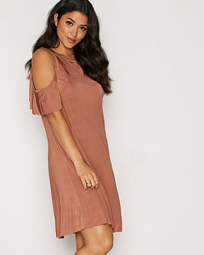 Glamorous Cold Shoulder Satin Dress
