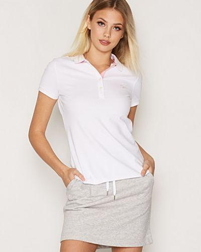 Contrast Collar Pique SS Gant t-shirts till dam.