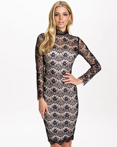 Ax Paris Contrast Lace Midi Dress