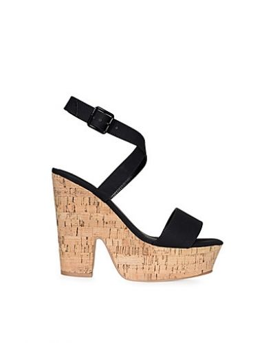 Nly Shoes Cork Wedge Wrap Sandal