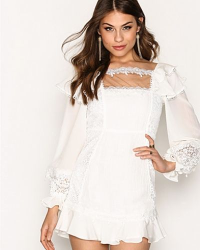 For Love & Lemons Crema Silk Linen Dress