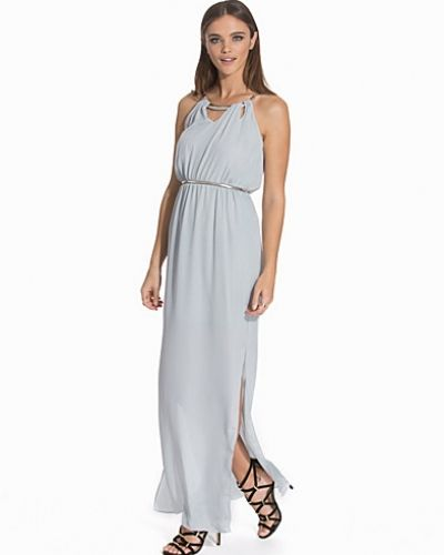 New Look Crepe Bar Trim Neck Belted Maxi Dress
