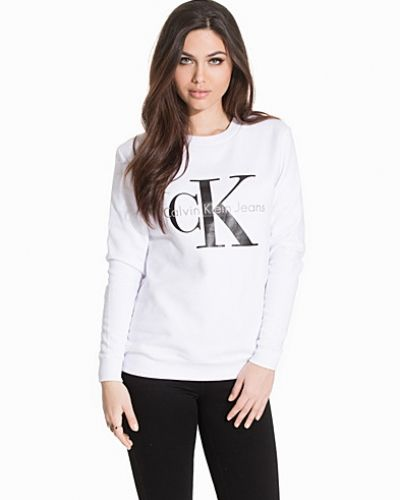 Vit sweatshirts från Calvin Klein Jeans till dam.