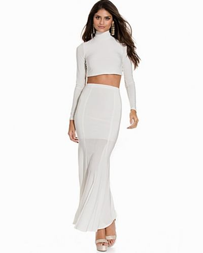 Club L Criss Cross Top & Fishtail Maxi Skirt