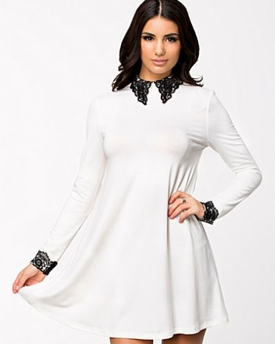 Ax Paris Crochet Collar And Cuff Swing Dress