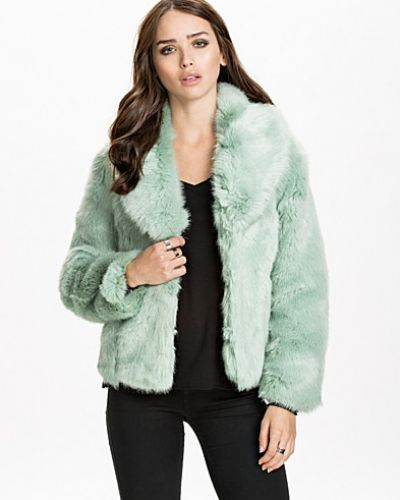 Miss Selfridge Cropped Fur Coat