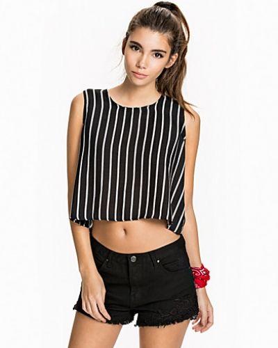 Glamorous Cropped Stripe Top