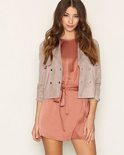 Kappa Cropped Trench Coat från Miss Selfridge