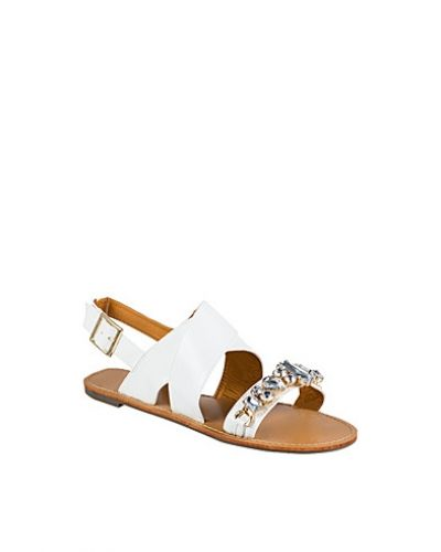 Nly Shoes Cross Over Stone Sandal