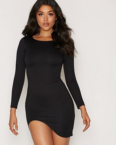 NLY One Curved Hem LS Dress