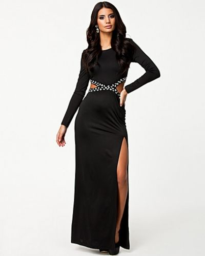 Cut Out Rhinstone Dress Nly Eve långärmad klänning till dam.