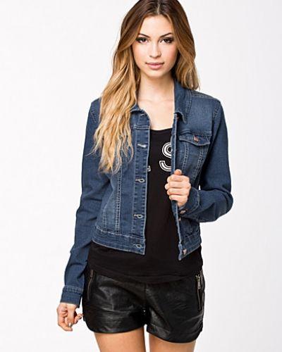 Metallicfärgad jeansjacka från Noisy May till dam.