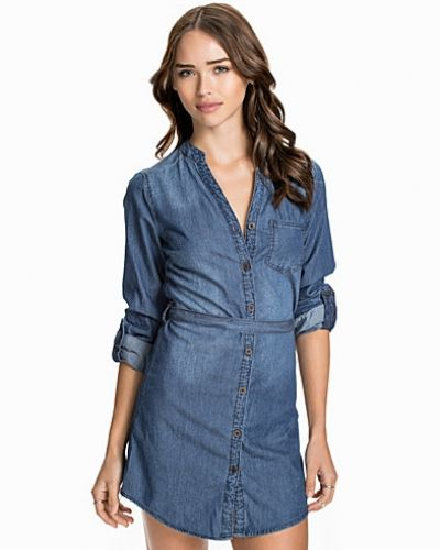New Look Denim Grandad Shirt Dress