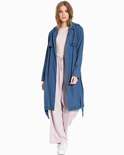 Kappa Denim Trench Coat från New Look