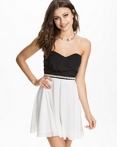 Elise Ryan Diamonte Waist Bandeau Dress