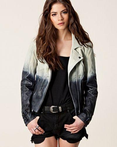 Selected Femme Dip Dye Leather Jacket