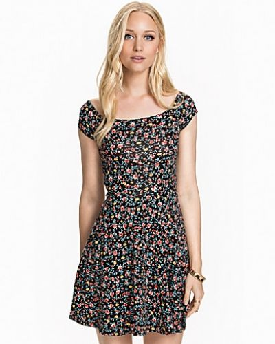 New Look Ditsy Bardot Skater Dress