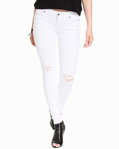 Dr Denim Dixy White Ripped Knees