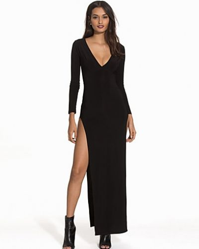 Double Thigh Slit Dress NLY One maxiklänning till dam.