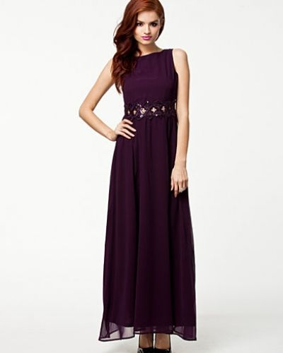 Ax Paris Embellished Waist Chiffon Dress