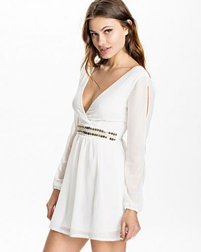 Club L Embellished Wrap Over Dress