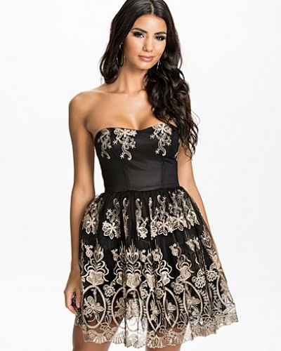 Club L Embroided Puff Prom Dress