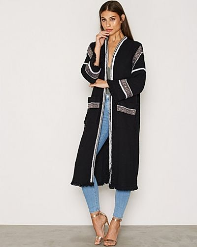 Topshop Embroidered Duster Coat