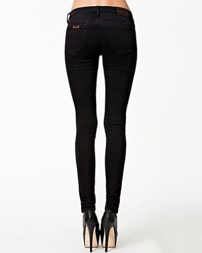 2ae64aaa2247 Svart slim fit jeans från Fornarina till dam.