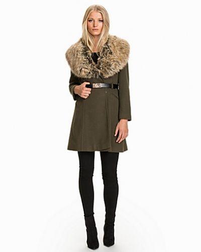 Miss Selfridge Faux Fur Collar Belted Coat