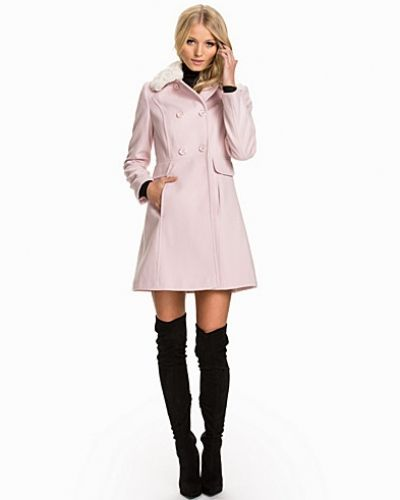 Miss Selfridge Faux Fur Collar Button Coat