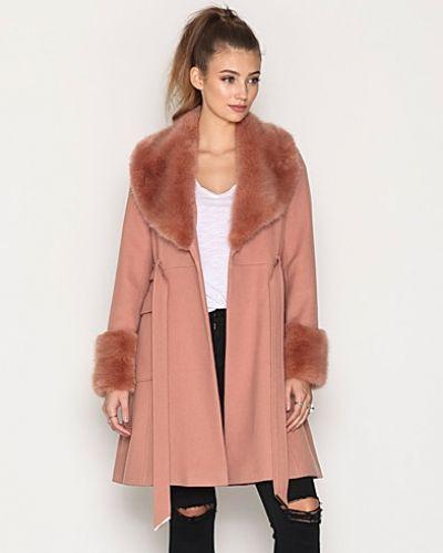 Miss Selfridge Faux Fur Cuff And Collar Coat