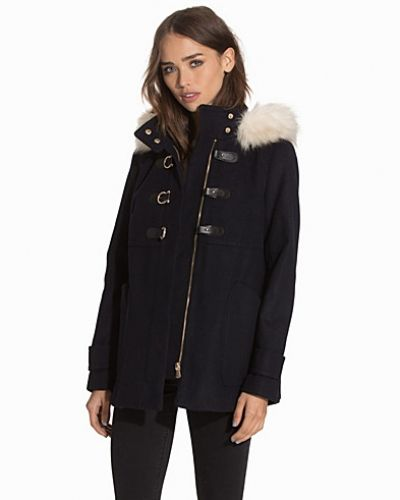 Kappa Faux Fur Hooded Coat från Topshop
