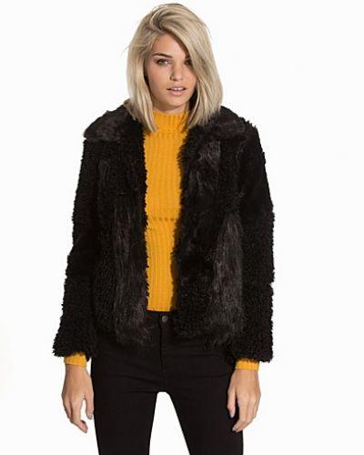 Topshop Faux Fur Patchwork Coat