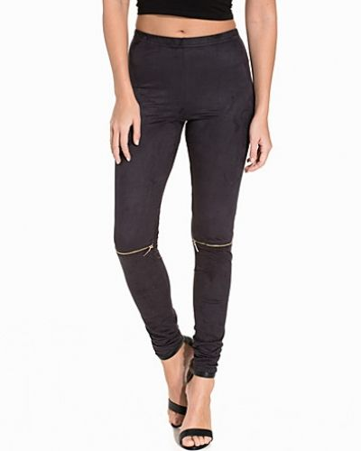 NLY Trend Faux Suede Zip Leggings