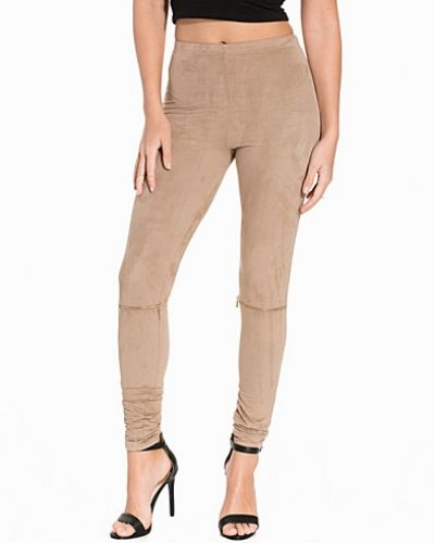 Faux Suede Zip Leggings NLY Trend leggings till dam.
