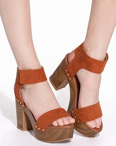Nly Shoes Faux Wooden Heel Sandal