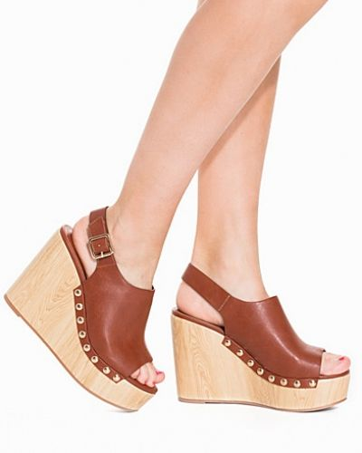 Faux Wooden Wedge Nly Shoes wedge-klack till dam.