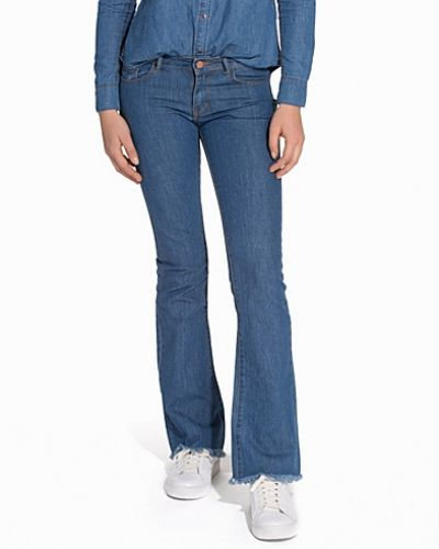 Blå bootcut jeans från First And I till tjejer.