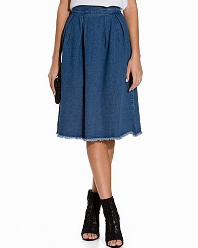 First And I FITAVAS DENIM MIDI SKIRT