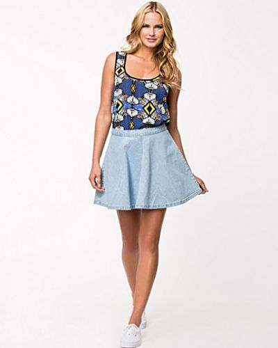 Fit'n Flare Denim Skirt Glamorous jeanskjol till tjejer.