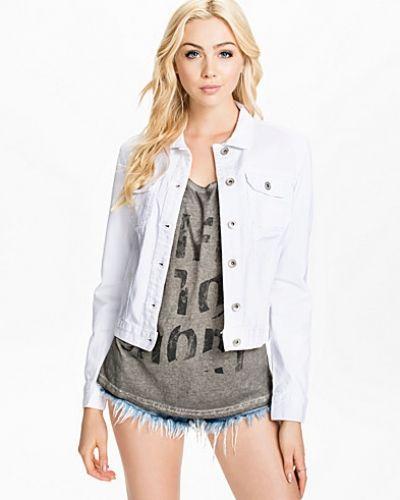 vit jeansjacka dam