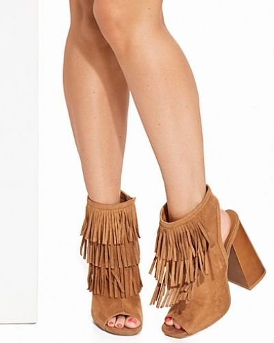 Nly Shoes Flared Heel Fringe Boot