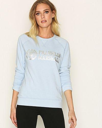 Blå sweatshirts från Franklin & Marshall till dam.