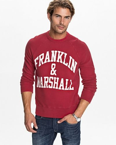Röd sweatshirts från Franklin & Marshall till killar.