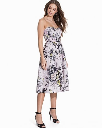 Miss Selfridge Floral Bandeau Prom Dress