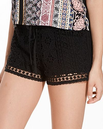 Topshop Floral Crochet Shorts
