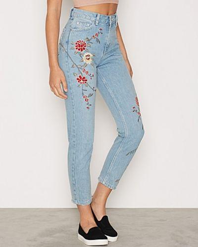 Topshop Floral Embellished Jeans