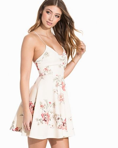 New Look Floral Print V Neck Skater Dress