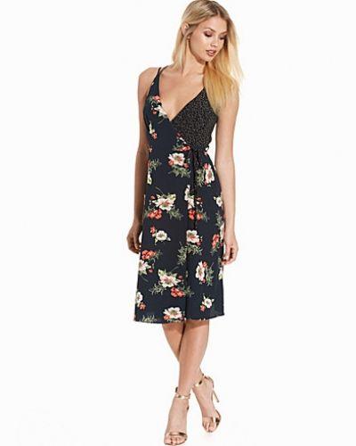 Topshop Floral Wrap Slip Dress