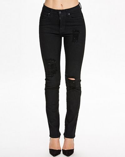 Dr Denim Florence Black Destroyed